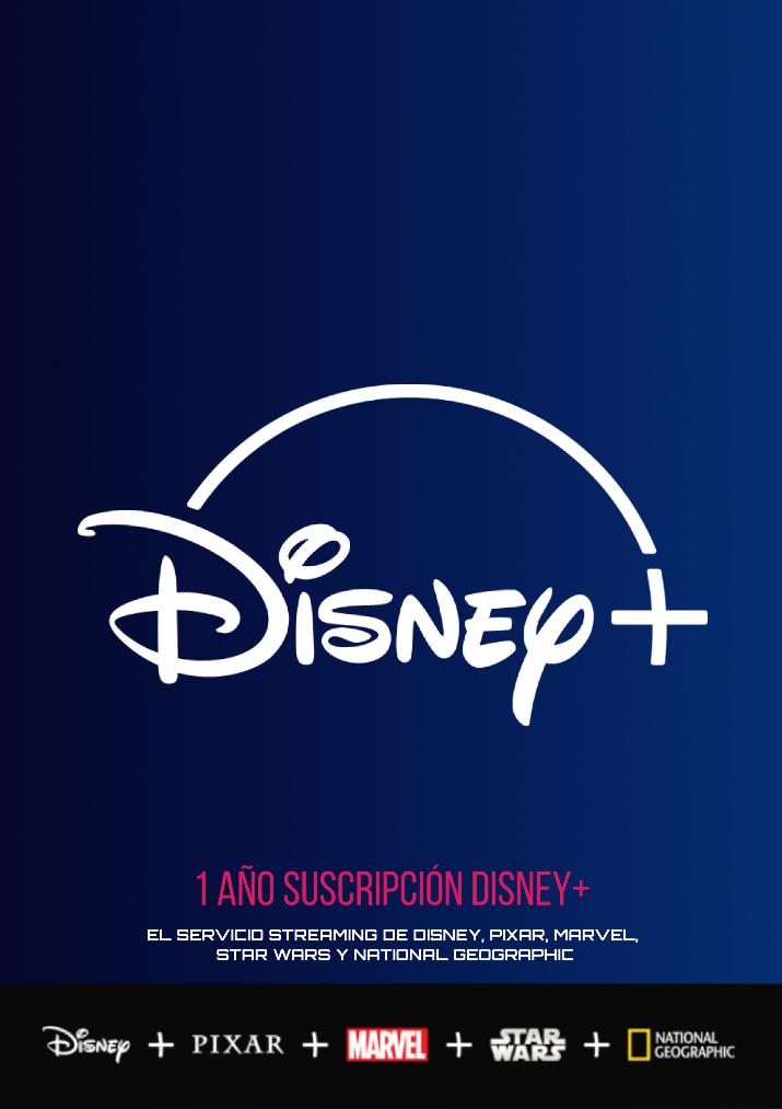 1 cuenta con un año Suscripción Disney+